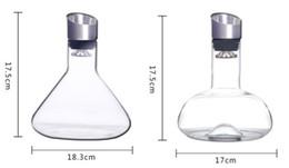 Decanter di cristallo creativo libero fatto a mano all'ingrosso Decantatore di cristallo libero di Leed del vino per uso domestico e del partito da