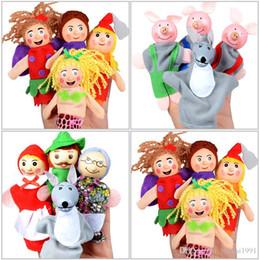 1pc Dito Puppets Cloth Doll Bambino Educativo Mano Cartoon Animal Giocattolo DB