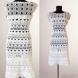 146cd608a Women Crochet dress Catherine. White women handmade summer day or special  occasion organic cotton crochet dress