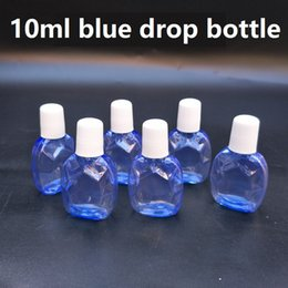 Hermosas botellas al por mayor online-10 ml de plástico azul claro gotero botella de plástico botellas de gota vacías gotas para los ojos botella hermoso estilo dos envío gratis venta al por mayor