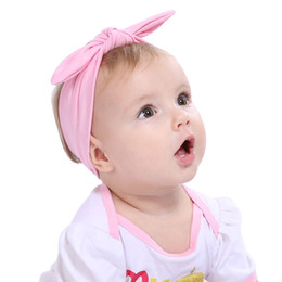 Großhandel kinder bandanas online-Großhandel Böhmischen Stirnband Mädchen Baby Bowknot Turban Twist Head Wrap Twisted Knoten Weiche Haarband Kinder Stirnbänder Bandanas Zubehör