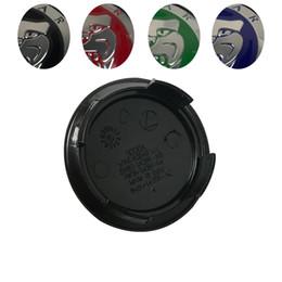 2019 emblème rouge bleu Accessoires de voiture 100PCS vert bleu rouge noir 58MM 5.8 CM auto couvre jante emblème jante de roue pour XF XJ XJS XK S-TYPE OEM 20PCS / SET emblème rouge bleu pas cher