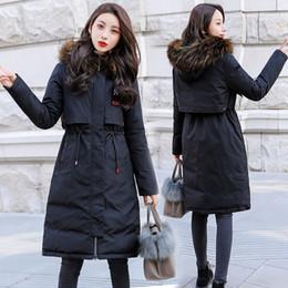 Manteau de cheveux lourd d'hiver en Ligne-2018 New Coat Winter Jacket Manteau Femme Parka Femme Down Down Jacket Femme Veste d'hiver à poil épais.