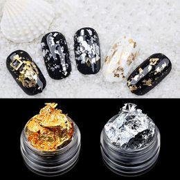 carta adesiva glitter Sconti 21pcs / lot oro argento irregolare foglio di alluminio carta nail art sticker 3d glitter fai da te manicure gel uv polacco strumenti di decorazione chiodo
