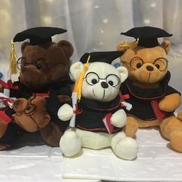 brinquedo graduação urso Desconto 18 cm Urso De Pelúcia Bonito Animais De Pelúcia Brinquedos De Pelúcia Recheado Dr. Urso Brinquedos Presentes de Natal Presentes de Formatura de Meninas Dos Miúdos