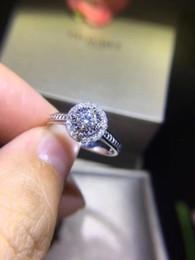2019 runde diamant-einstellungen Großverkauf der fabrik ring für frauen echtes gold zertifiziert diamant verlobungsring 0,35 ct SI f-g diamant 18 Karat Weißgold großhandel R356