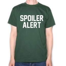 2019 filmes antigos Spoiler Alerta Camiseta Para Culto Filme Filme Cinema T Shirt Aficionados Old SkoolFunny frete grátis Unisex Casual Tshirt filmes antigos barato