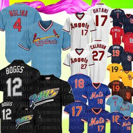 ffded248 4 Yadier Molina Retro St. Louis Smith Cardinals Jersey 12 Wade Boggs 27  Mike Trout Mets 18 Darryl Strawberry 19 Tony Gwynn Padres Baseball