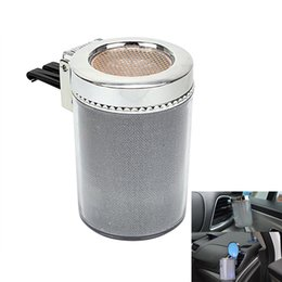 eu plug mini cargador de coche Rebajas 1pc Cenicero para coche con luz LED ette Cilindro bandeja de ceniza de contenedores de humo Copa titular CSL2018