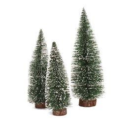 Albero di miniature online-MEIDDING Hot Mini Christmas Tree Christmas Cedar Ornaments Table Table Ornamento in miniatura Decorazioni natalizie per la casa