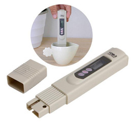 ph misuratore di conducibilità Sconti Digital TDS Meter Monitor TEMP PPM Tester Penna LCD Metri Stick Purezza dell'acqua Monitor Mini filtro Tester idroponici TDS-3 in scatola di carta p