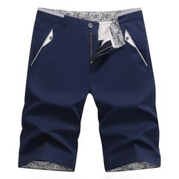 Pantaloni corti degli uomini coreani di modo online-Pantaloncini da uomo alla moda estiva Versione coreana di pantaloni da uomo in tinta unita Pantaloni a sezione sottile Cinque Nuovi casual
