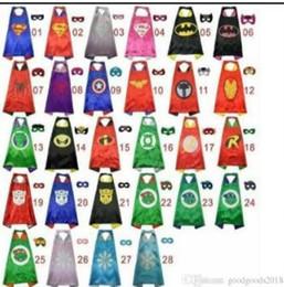 Canada 28 styles une couche comprennent le logo 70 * 70CM Capes de super héros et ensemble de masques Capes de cosplay super-héros + masque Masque de cape Halloween pour enfants ST410 supplier logo sets Offre