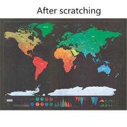 Wasserdichte weltkarten online-2 Stück Scratch Karte Bunte dekorative Karte Poster Weltkarte Malerei Kunststoff-Oberfläche wasserdicht