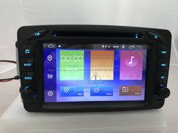 Mercedes benz gps navigazione dvd online-Android 9.0 DSP 2Din Autoradio lettore DVD audio per Mercedes Benz W209 W203 W168 ML W163 W463 Viano W639 Vito GPS Navigation BT RDS SD
