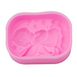 Formulário de Anjo 3D Moldes De Silicone Handmade Soap Mold Silicone Moldes De Modelagem De Gelo Pastelaria Bolo Ferramentas de Decoração Do Bolo de