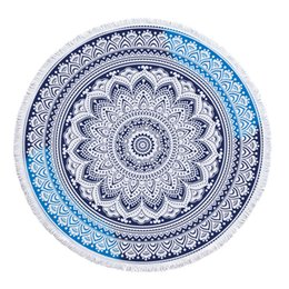 Colorful Geometric Indian Circle Rotondo Mandala Beach Asciugamano Microfibra Tassel Grande spiaggia Coperta Mandala 150cm Diametro Yoga Mat cheap circle blanket da cerchio coperta fornitori