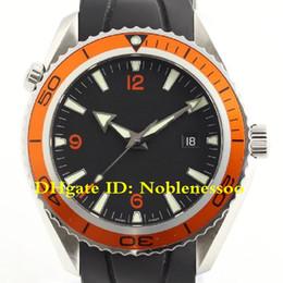 Relógios de mergulho oceânicos do planeta on-line-5 Estilo Top Mens Luxo Assista luxo Black Dial 2209.50 Laranja Bezel Automático Planeta Oceano Co-Axial 600 M Divers Bands Rubber Relógios