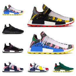 Pharrell venta nmd online-Hot sale human race Pharrell Williams men women running shoes Homecoming Solar Pack BBC mens trainers fashion runners sports sneakers