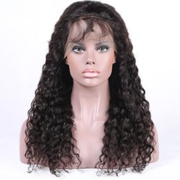 human hair styles for black women Promo Codes - Full Lace Human Hair Wigs Lace Front Wigs Brazilian Human Hairs Preplucked Natural Hairline 150% Density Wigs Curly Style For Black Women