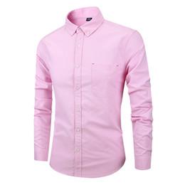 1a1e8638c372 Mens Casual Button Down Dress Shirts 2019 High Quality Oxford Cotton Shirt  Men Slim Fit Long Sleeve Shirt Camisa Masculina 4XL