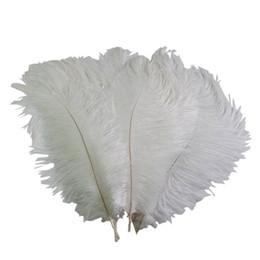Cor de pluma on-line-cor Navio livre barato Branca de penas de avestruz plumas 14-16inch (35-40cm) casamento Centerpieces decoração pena decoração de festa central z134