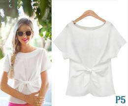 2020 le magliette delle donne stampano gli archi T-shirt nuova estate casuale Pure Color Stampa di moda a pannelli Bow girocollo traspirante in poliestere formato S-XXLP5 sconti le magliette delle donne stampano gli archi