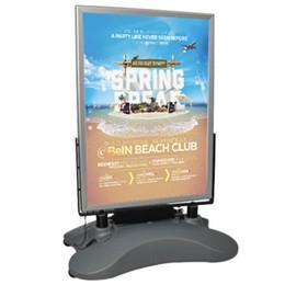 stand di poster Sconti Outdoor A1 LED Poster Stand Stand bifacciale in alluminio a LED Poster Stand Cartello per esterni con base per serbatoio d'acqua