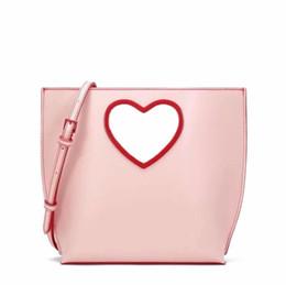 Fronde d'amour en Ligne-2019 nouvelle édition limitée sac à bandoulière Messenger sac petite Saint Valentin poignée d'amour creux femme portable poignée d'amour épaule seau