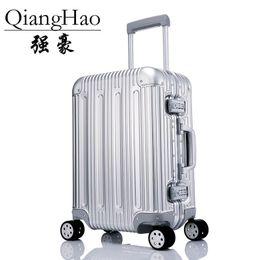 29 wheels Rebajas 20/24/26/29 pulgada 100% Todo el carrito de equipaje de mano de spinner de aluminio de la marca de viaje con ruedas giratorias