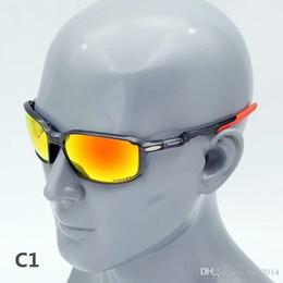occhiali da sole arancioni sportivi Sconti Nuove 09429 polarizzati sport occhiali da sole arancione per uomini UV400 HD lenti rovo-specchio TR90 occhiali da sole ciclismo per tutti esterni di sport