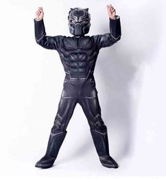 A new black panther children's cosplay the role of a superhero avengers costume costume costume for Halloween
