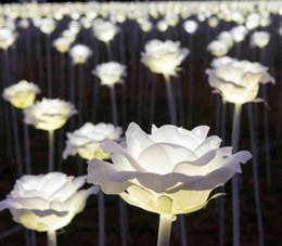 2019 il buco della serratura automatico ha condotto la luce Lanterna LED luci da sogno LED Rose fiori colorati San Valentino Outdoor piazza paesaggio parco scintillante Luci natalizie LLFA