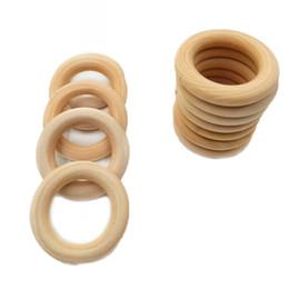 7 размер прекрасное качество натурального дерева прорезывания зубов бусины деревянные кольца дети дети DIY деревянные ювелирные изделия делая ремесло 20 шт. от