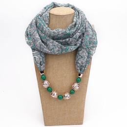 Collier femme foulard en mousseline de soie avec pendentif bijoux floral Wraps ethnique écharpes déclaration ? partir de fabricateur