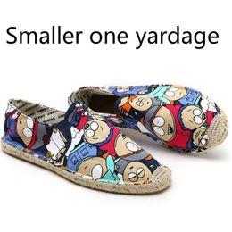 Zapatos de lona plimsolls online-Tamaño 36-45 Mujer Zapatos de lona ocasionales de dibujos animados Chica de lino Alpargata Pescador Zapatos Damas Pisos Plimsolls Mocasines de conducción