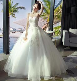 Canada balle sans manches Robe bustier de mariée en dentelle chérie robe lacée robe occasion formelle XHS03 robe de mariée retour Offre