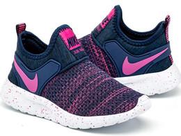 Новая модель девочки обувь онлайн-Модные Детская одежда девушки Повседневная обувь 2018 взрыв модели мальчики холст обувь осень сращивания новые детские кроссовки