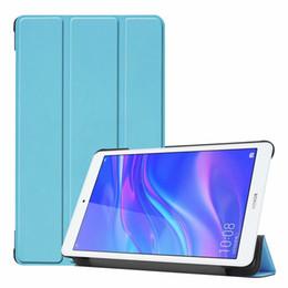 2019 тонкая обложка книги 3 Складной Магнитный Бумажник Кожаный Чехол Для Huawei Honor 5 T5 8.0 Tablet Роскошные Красочные Ультра Тонкий Книга Смарт-Стенд Держатель Кожного Покрова 30 шт.