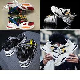 shoes korea sneaker Promo Codes - old grandpa Casual Sneakers Korea Ulzzang Shoes INS ABO triple S Fashion Board Shoes