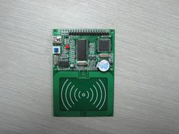 2019 módulo leitor rfid RFID leitor de cartão de módulo, desenvolvimento RC500, interface USB, com LCD1602 / 12864 desconto módulo leitor rfid