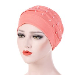 ladies muslim cap Promo Codes - Cheap Islamic Clothing New Women's Ladies Muslim Hijabs Hat Chemo Hat Beanie Scarf Turban Head Wrap Cap Women's Hats