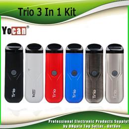 Kit de batterie 400mAh du kit de gousse de vaporisateur Trio 3 IN 1 d'origine Yocan avec cartouche de 1,0 ml pour les kits de liquide épais de cire à base de cire 100% authentique ? partir de fabricateur
