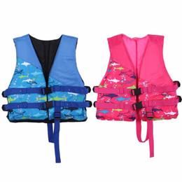 Niños nadando inflables online-Chaqueta niños niño niña niños chalecos inflables chaquetas de seguridad de agua chaleco salvavidas para 5-12 años anillo de natación C19041201