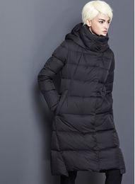 abrigo de invierno azul Rebajas 2018 chaquetas largas de invierno para mujer gruesas negras azul marino, rojo, rojo más tallas abrigos de invierno