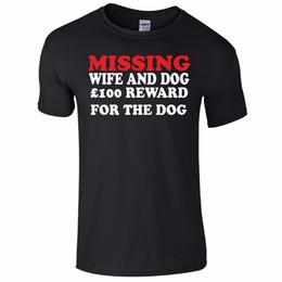 2019 vermisse santa Vermisste Frau und Hund lustiges T-Stück T-Shirt Top Tumblr Neuheit Weihnachtsgeschenk geheime Santa Lustiges freies Verschiffen Unisex-zufälliges T-Shirt günstig vermisse santa
