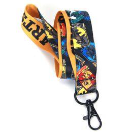 Nuovo stile Harry Potter cordino portachiavi Hogwarts telefono scolastico corda catena tracolla cordino portachiavi portachiavi cordino badge badge cinghia da braccialetti di plastica del partito fornitori