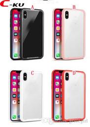 Vidro i6 on-line-Novo caso de volta de vidro temperado tpu pc hard case para iphone x 8 7 plus 6 6 s i6 i7 i8 7 mais claro à prova de choque moda celular tampa da pele 30 pcs