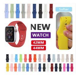 2019 резиновые браслеты Силиконовый ремешок для ремешка для часов Apple Ремешок 40мм 44мм 42мм 38мм браслет Резиновый ремешок для часов серии 4/3/2/1 дешево резиновые браслеты