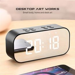 сигнал тревоги x Скидка Зеркало Bluetooth динамик будильник светодиодный дисплей с Aux TF карты USB Handsfre вызова для iphone X 8 7 6 samsung S9 портативный динамик HIFI